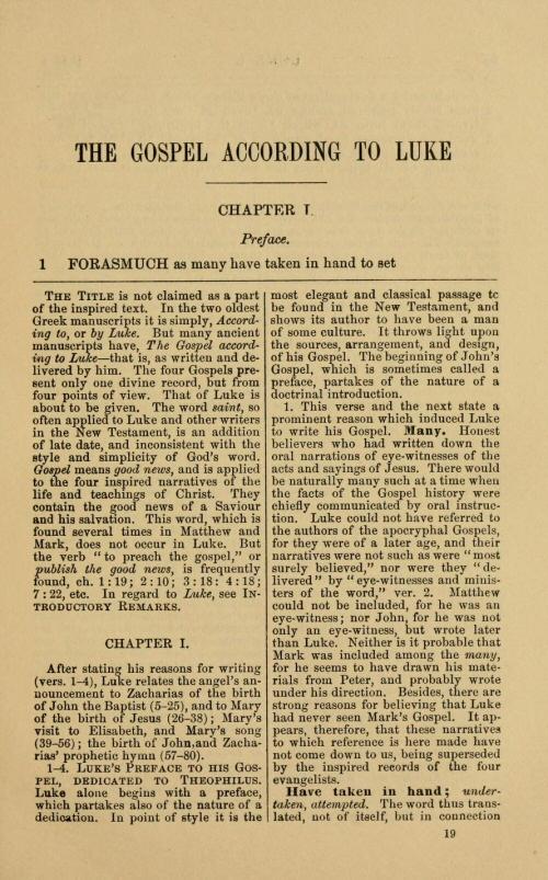 essay on the gospel of luke