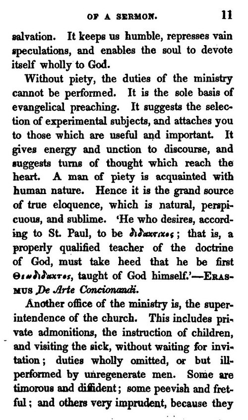an essay on the composition of a sermon
