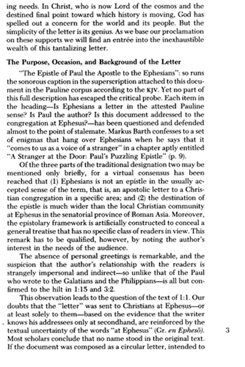 the critical issues of the letter to the ephesians Studies in ephesians: text- and edition-critical issues  not only what the auctor of ephesians says in his letter but what he does by saying it is the.