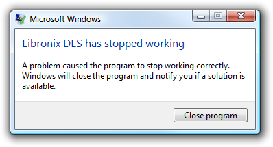 Libronix DLS has encountered a problem.