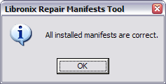 All installed manifests are correct.