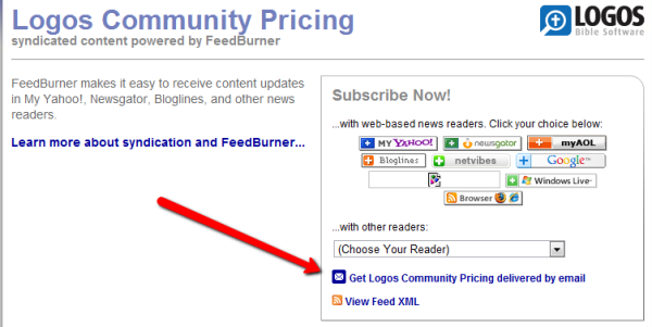 Community Pricing RSS Feed