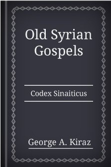 Old Syrian Gospels: Codex Sinaiticus