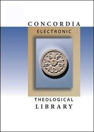 Concordia Electronic Theological Library: Collection 4 (4 vols.)