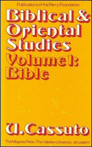 Biblical and Oriental Studies, vol. 1