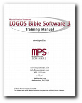 Morris Proctor Seminars Training Manual - Logos Bible Software 3