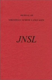 Journal of Northwest Semitic Languages, vol. 21, 1995