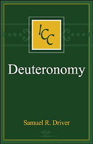 A Critical and Exegetical Commentary on Deuteronomy, 3rd Ed.