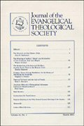 Journal of the Evangelical Theological Society (42 vols.)