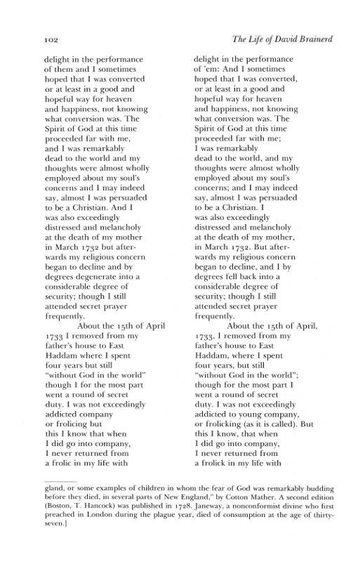 The Works Of Jonathan Edwards Vol 7 Life David Brainerd