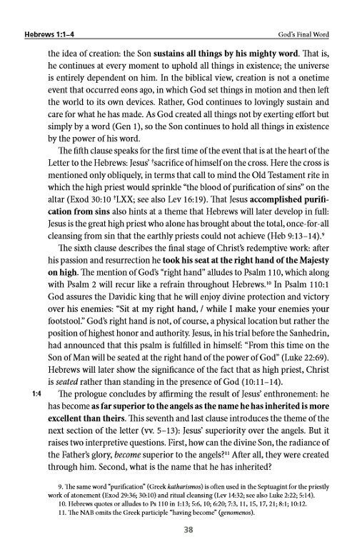 bible commentary on hebrews