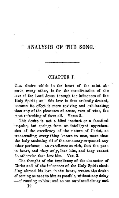 An EXPOSITION Of the First Chapter of the Song of Solomon