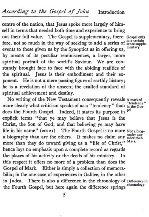 gospel of john vs synoptics essay Summary the gospel of john is the latest-written of the four biographies of jesus that have been preserved in the new testament written by a christian named jo.