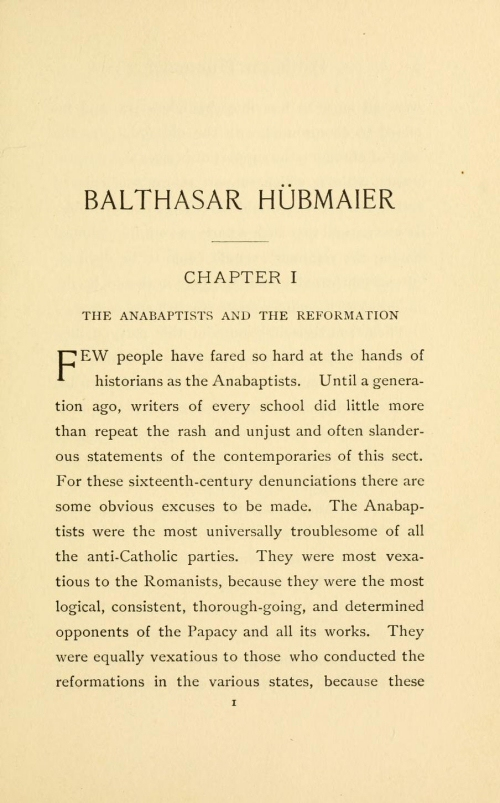 Classic Anabaptist And Mennonite History Collection  Vols  Balthasar Hbmaier The Leader Of The Anabaptists