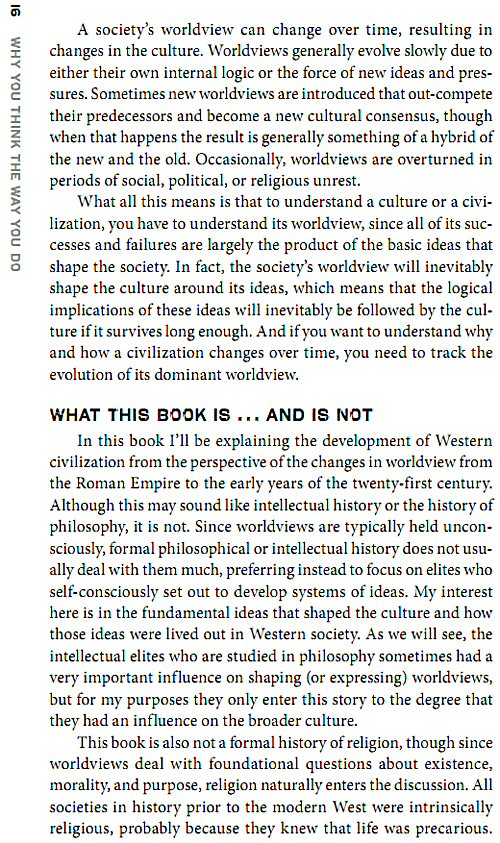 why you think the way you do the story of western worldviews from rome to home