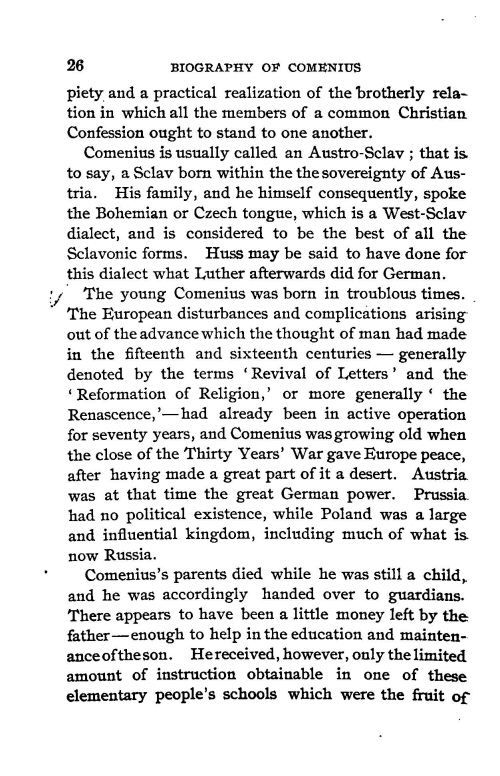 john amos comenius essay example David said: i just finished my first reading of comenius' school of infancy: an essay on the educ jan amos komensk (also johann amos comenius, john amos comenius, iohannes amos comenius) was a czech teacher, educator and writer.