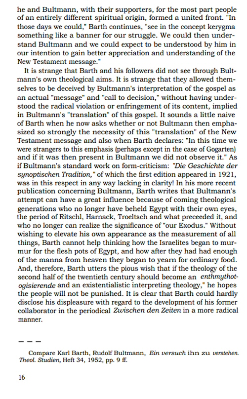 rudolf bultmann essays philosophical and theological Rudolf bultmann — who died on july 30, 1976 at the advanced age of 91 — was the last of the theological giants who grew up in the universities of the kaiser's germany (he began to study theology in 1903 at 19), and the last of the prophets who struggled to hear the word of the christians.