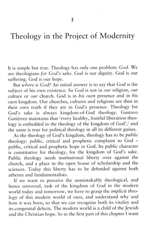 jurgen moltmann theology of hope pdf