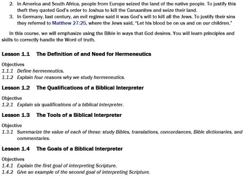 Berean school of the bible digital courses 27 courses logos introduction to hermeneutics how to interpret the bible bsb level 1 bib 121 fandeluxe Images