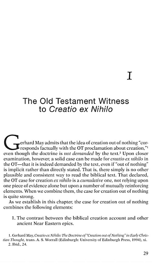 explain the concept of creatio ex nihilo essay Augustine gave creatio ex nihilo its first careful philosophical  akusilaos3  explained the origin of the world in terms of anthropomorphic genealogy  breaking  the concept was current in amun theology in anaximander's time  as the text.