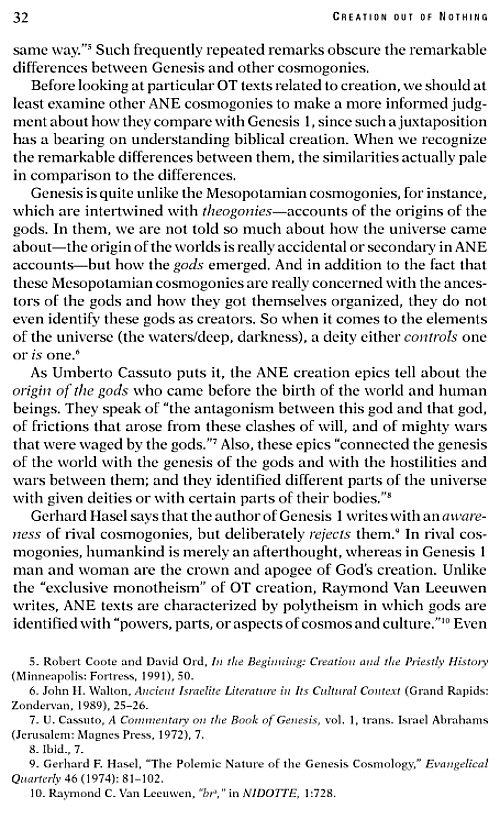 explain the concept of creatio ex nihilo essay