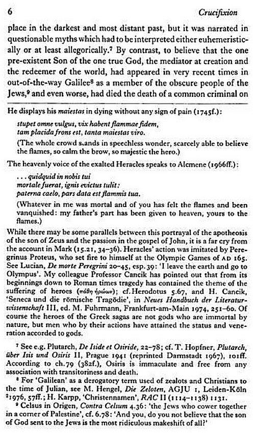 Martin hengel crucifixion