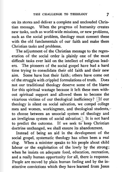 theology for the social gospel a A theology for the social gospel: walter rauschenbusch , a theology for the social gospel [walter rauschenbusch] on amazoncom free shipping on qualifying offers 2010 reprint of 1918 edition the social gospel movement was a protestant christian.