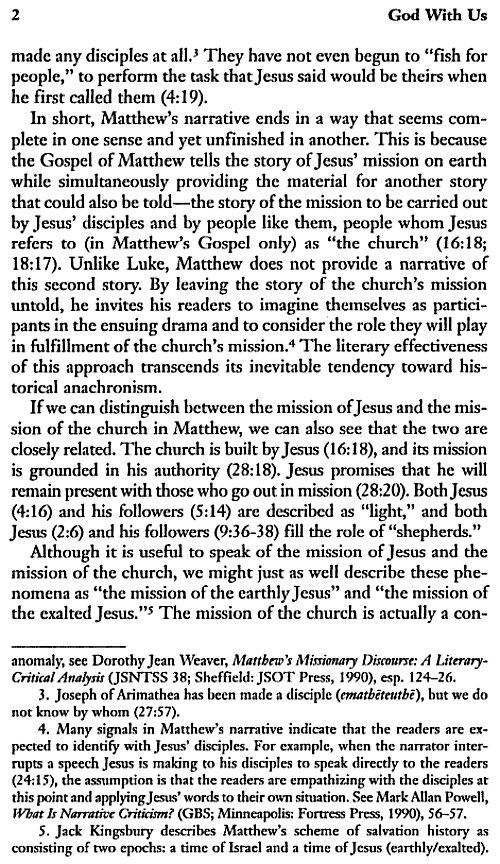 God With Us: Pastoral Theology of Matthews Gospel