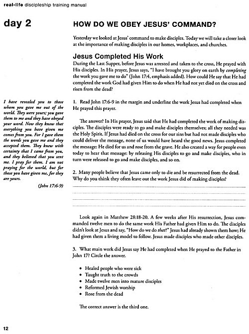 real life discipleship 2 vols logos bible software rh logos com Christian Discipleship real-life discipleship training manual equipping disciples who make disciples pdf