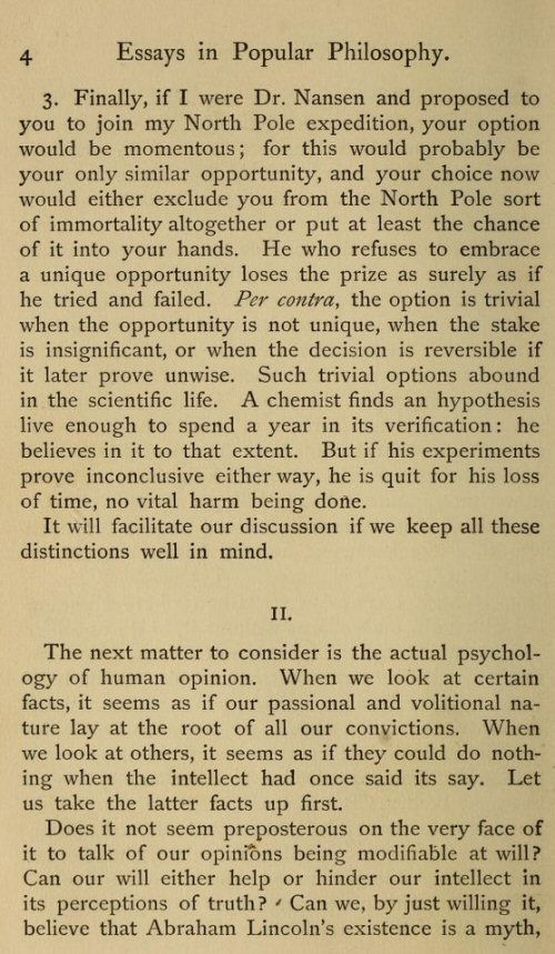 essays in pragmatism by william james