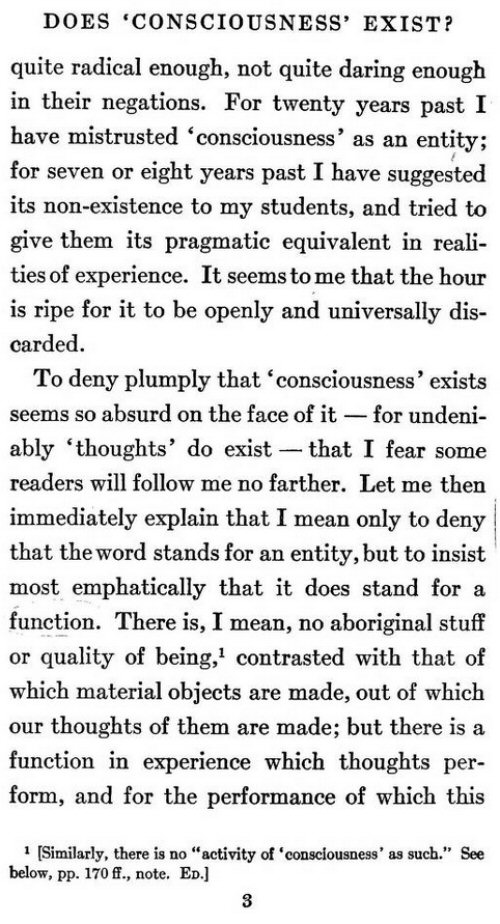 james essays radical empiricism James suggests a possible connection between radical empiricism and panpsychism at two places in essays in radical empiricism william james.