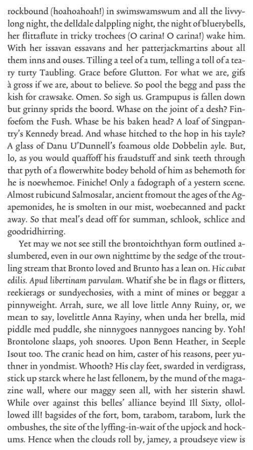 Finnegans Wake First Page