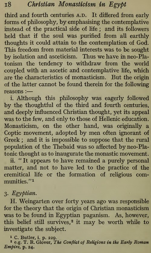 christian monasticism in fourth century egypt This post is meant as a short introduction to christian monasticism the beginnings of monasticism are found in the fourth century egypt and syria the three main forms which developed.