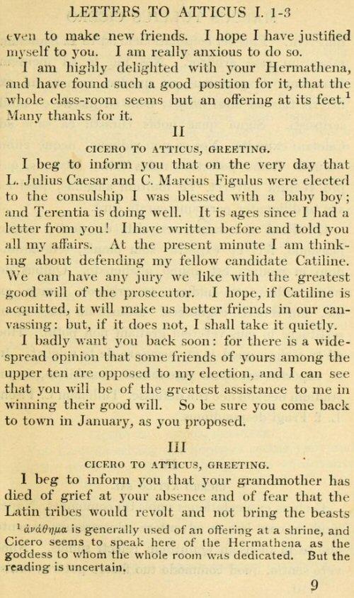 Letters To Atticus Vol 1