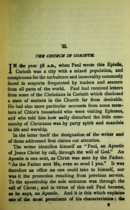 an analysis of pauls letter in the first letter to the corinthians The first and second letters of st paul to the corinthians the first letter of saint paul to the corinthians context of chaps 12–14 of this letter.