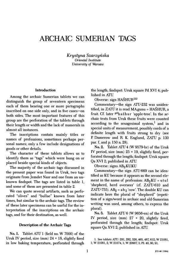 Journal of Cuneiform Studies (19 vols ) | Logos Bible Software