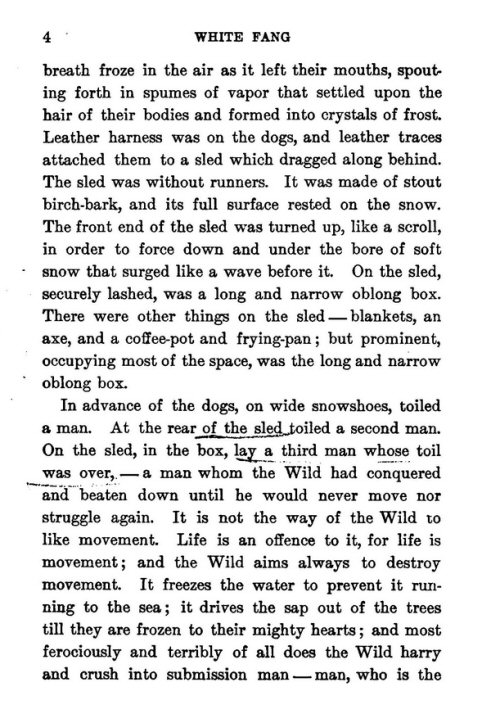 white fang book report Category: white fang essays title: free essay: symbols and symbolism in white fang my account free essay: symbols and symbolism in white fang length: 851 words (24 double-spaced pages) rating: excellent in the book white fang by jack london, white fang is influenced by three different.