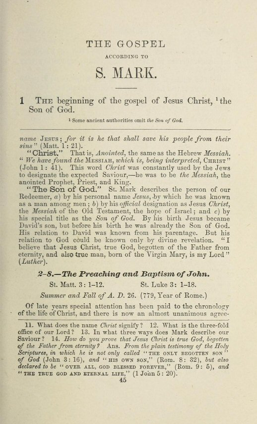 an examination of the gospel of mark A closer examination of the new testament reveals that the author of the second gospel was actually known as mark's gospel is fast-paced and power.