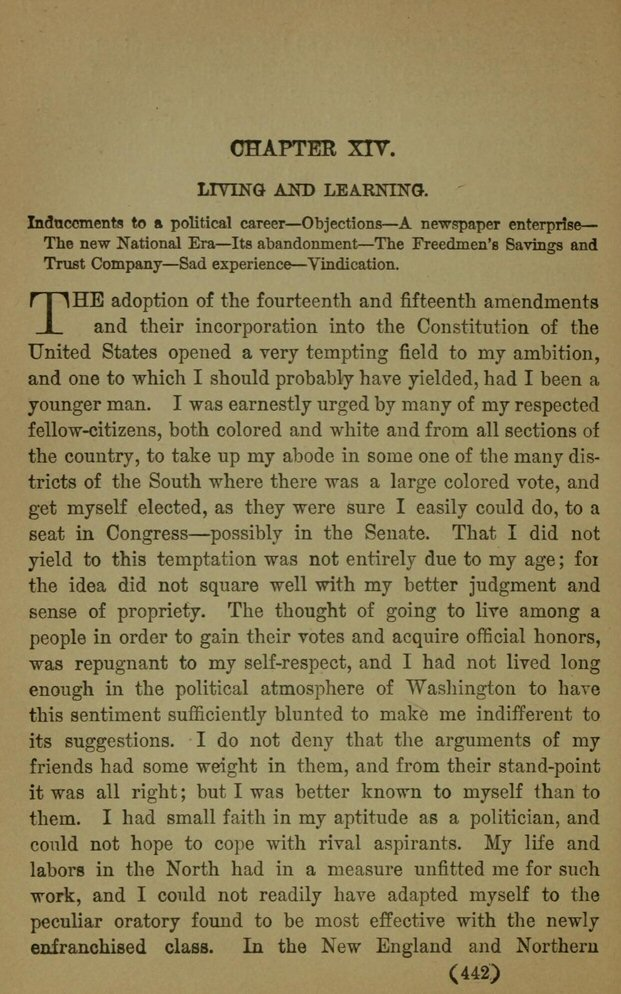douglass example 3 In 1845 frederick douglass published the narrative of the life of frederick douglass, an american slave, and written by himself example: i received the tidings of her death with much the same emotions i should have probably felt at the death of a stranger.