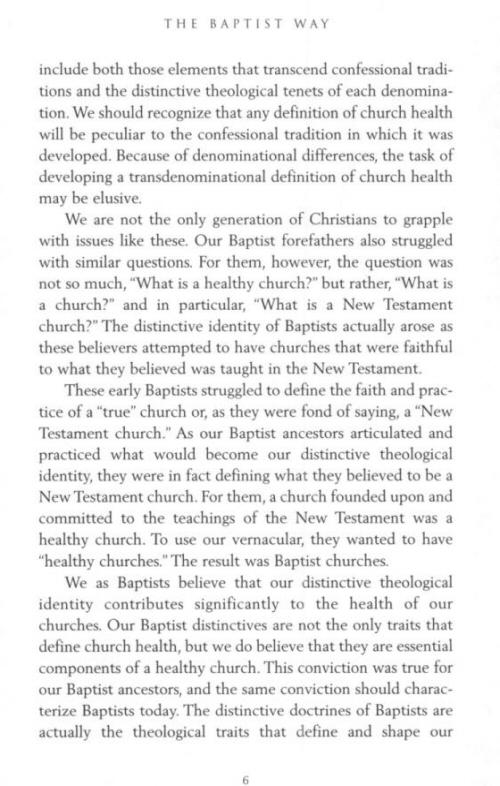 the distinctiveness of the baptist church in the book by stanton norman Perspectives on church government: five views of church polityby chad owen brand and r stanton norman nashville: b&h, 2004 253 pages softcover, $1999.