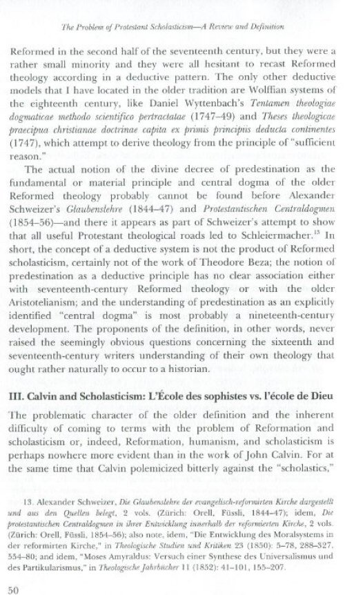 protestant scholasticism essays in reassessment Reformation bibliography  protestant scholasticism and humanism in seventeenth  and antoine de la faye,protestant scholasticism: essays in reassessment,.