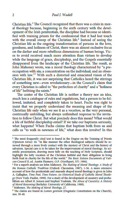 essay on moral theology This essay will review the debate over the ethics of contraception in the light of   manly moral theologian michael allsopp described this pastoral letter as.