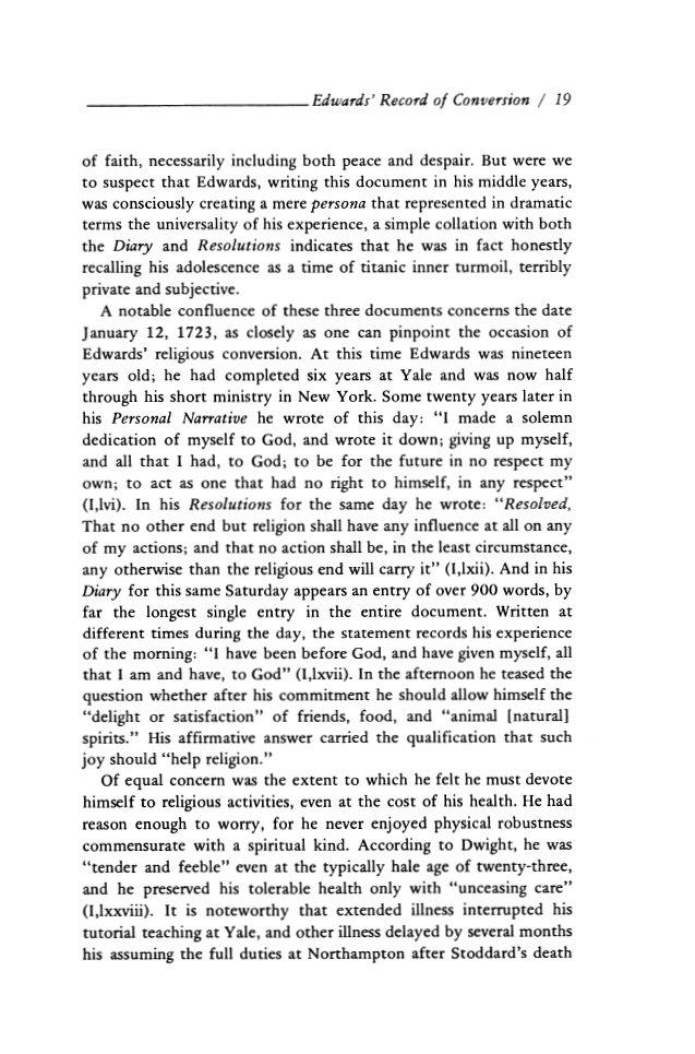 jonathan edwards personal narrative analysis