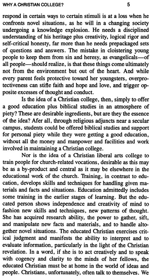 the idea of the christian college