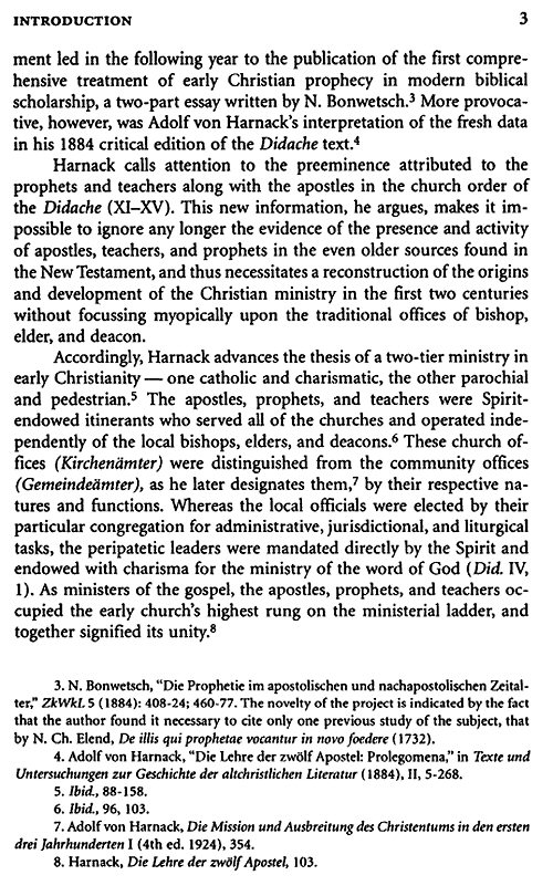 an analysis of early christian prophecy Interpretation of tongues, judging prophetic words, and women  (1) the  early church was to evaluate them in the light of the apostolic traditions (2 thess.