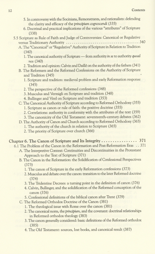 protestant scholasticism essays in reassessment table of contents