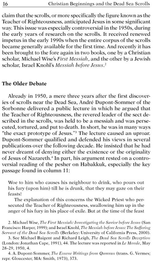 Jesus and the Dead Sea Scrolls The Anchor Bible Reference Library