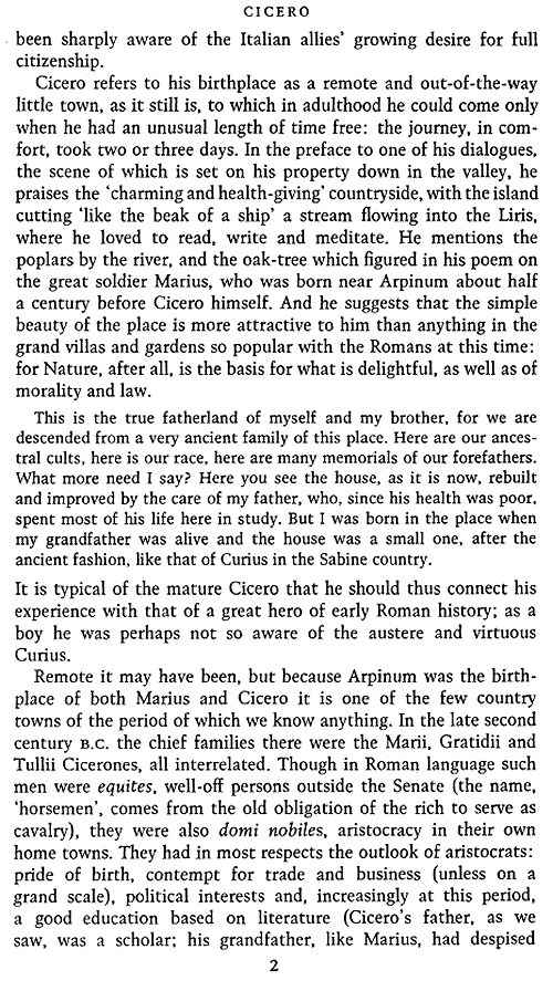 cicero background essay Together with a preliminary essay on the metaphysical basis of science  widger's quotations from the project gutenberg editions of the works of jacques.