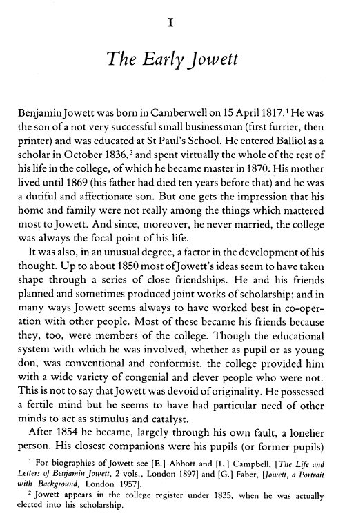 benjamin jowett essays and reviews Benjamin jowett born: 15-apr-1817 birthplace jowett was thus led to concentrate his attention on in the production of the volume known as essays and reviews.