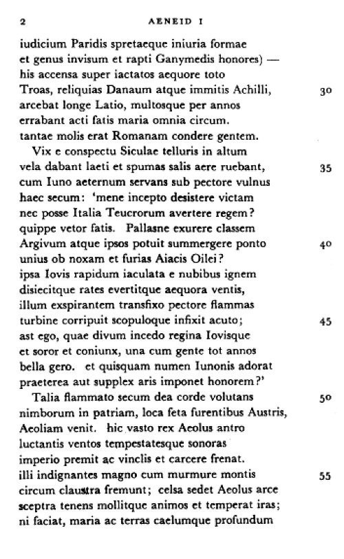 Virgil Aeneid Latin Text 105